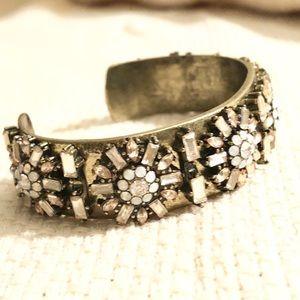 Baublebar brilliant crystal & rose gemstone bangle